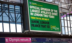 Paddy Power billboard