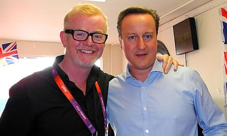 Chris Evans and David Cameron