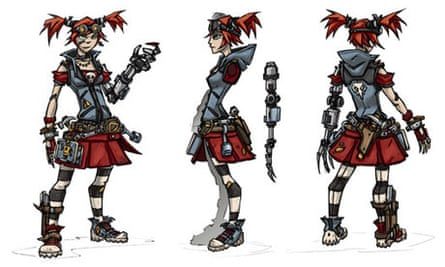Borderlands 2 Mechromancer concept art