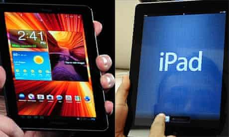 Samsung Galaxy Tab and Apple iPad