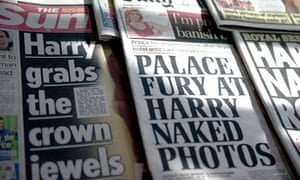 Prince Harry front pages