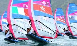 London 2012 windsurfing