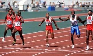 Ben Johnson in the 1988 Olympics