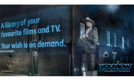 YouView poster featuring Larry Hagman