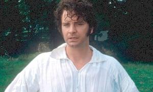 Colin Firth as Mr Darcy in the BBC's Pride and Prejudice