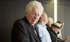 Tom Baker: the former Time Lord with other ex-Doctors at the Doctor Who 50th celebration