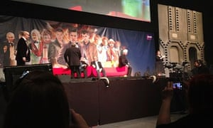 Tom Baker: the former Time Lord (second right) at the Doctor Who 50th celebration