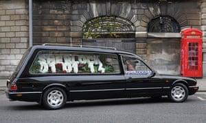Empty hearse promoting the BBC's Sherlock.