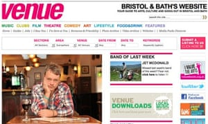 Bristol's Venue website has been closed by Local World
