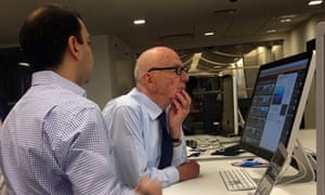News Corp's Rahul Chopra demostrates Storyful to Rupert Murdoch