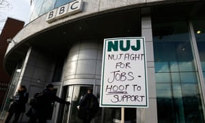 NUJ picket line at BBC Broadcasting House