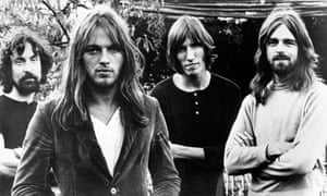 Pink Floyd in 1973: Nick Mason, Dave Gilmour, Roger Waters, Rick Wright