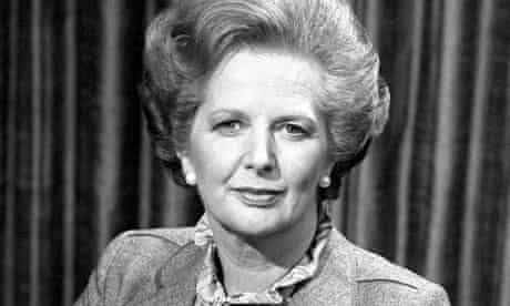 Margaret Thatcher in 1982 before talking to the BBC's Panorama programme