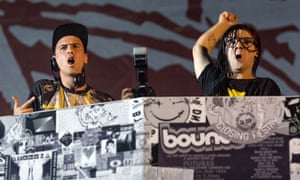 Coachella 2013: Dog Blood (Boys Noize and Skrillex) perform on stage