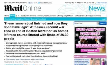 Mail Online Boston bombing