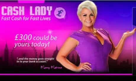 Kerry Katona in Cash Lady ad
