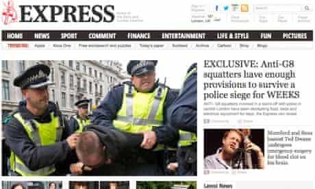 Express.co.uk website