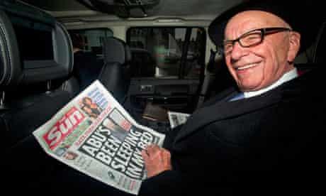 Rupert Murdoch with the Sun