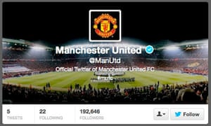 Manchester United Twitter page