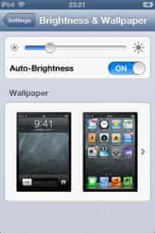 iOS wallpaper setting screen