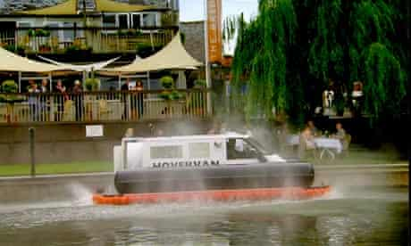 Top Gear hovercraft van stunt
