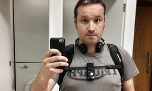 Christian Payne using the Autographer wearable camera