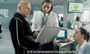 Sky TV campaign with Bruce Willis