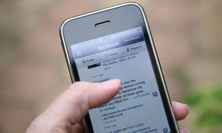 Facebook on an iPhone