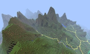 Ordnance Survey's Minecraft map of Great Britain: Snowdonia