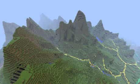Ordnance Survey's Minecraft map of Great Britain: Snowdonia