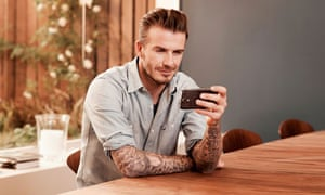 Sky Sports Premier League ad featuring David Beckham