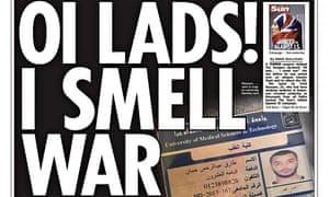 The Sun's 'Oi Lads' headline