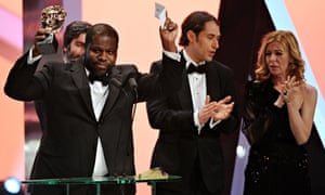 Baftas 2014: Steve McQueen accepts the best film prize for 12 Years A Slave