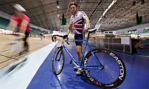 Evan Davis at the National Cycling Centre in Manchester