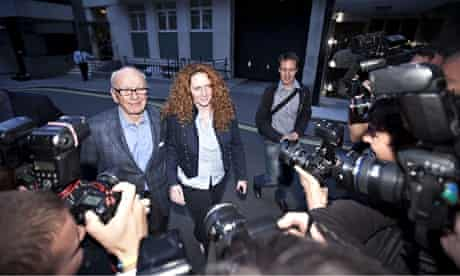 Rupert Murdoch and Rebekah Brooks on the day the News of the World published its final issue