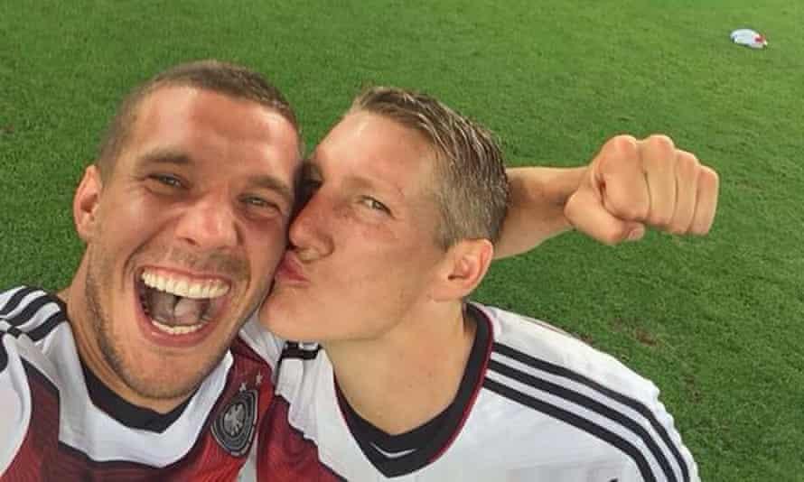 World Cup final: Lukas Poldolski's selfie with Bastian Schweinsteiger