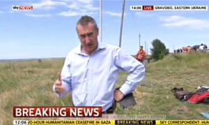 MH17: Sky News reporter Colin Brazier reports from the crash scene