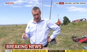 MH17: Sky News reporter Colin Brazier reports from the crash scene