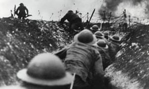 First world war: British troops go over the top in the trenches during the battle of the Somme