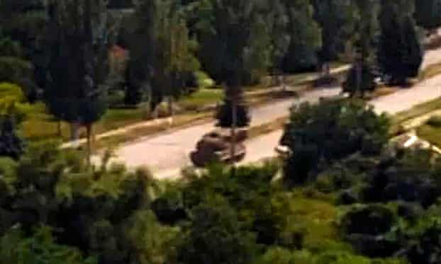 MH17: footage believed to show a Buk missile system being driven in Torez, Ukraine