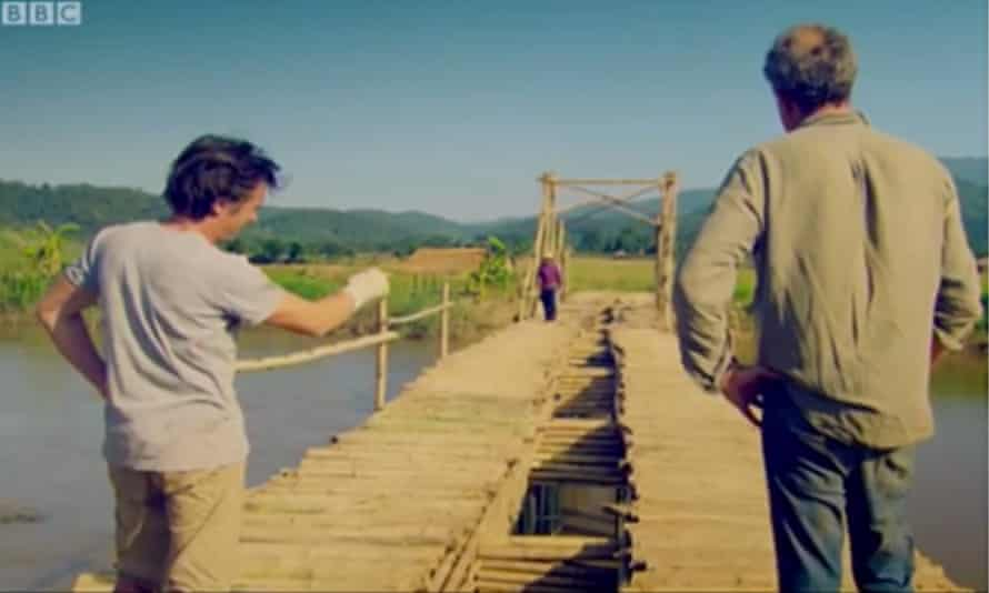Top Gear: Jeremy Clarkson said 'there's a slope on it' when discussing a bridge in the Burma special
