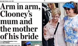 Daily Mail story on George Clooney's fiancée
