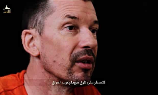 Islamic State video of captured British photojournalist John Cantlie