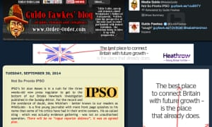 The Guido Fawkes blog has defended its reporter's story for the Sunday Miirror