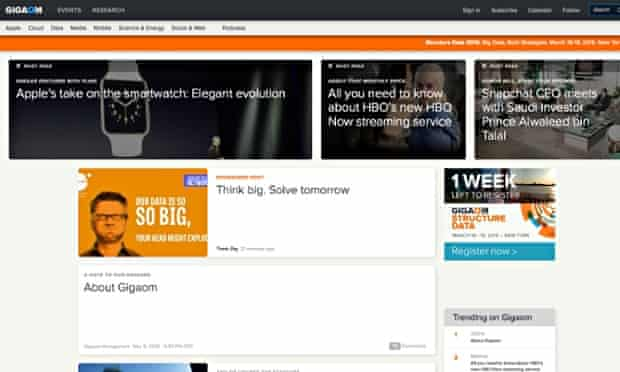 The Gigaom technology news site has closed after nine years
