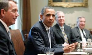 Barack Obama, John Boehner, Mitch McConnell, Dick Durbin
