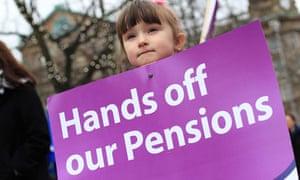 Pension protest