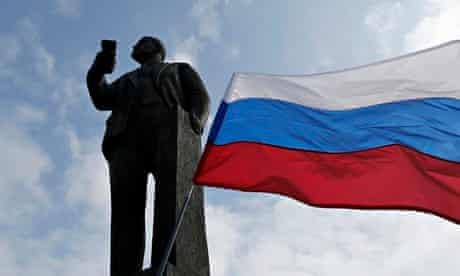 Lenin statue Ukraine