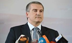 Crimean Prime Minister Sergei Aksyonov