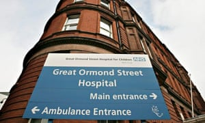 Sign outside Great Ormond Street Hospital